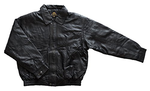 New Z Lander Elwood Genuine Lambskin Leather Bomber Jacket