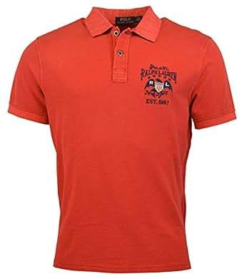 Polo Ralph Lauren Men Custom Fit Short Sleeve USA Flag
