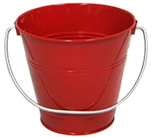 6 pack Metal Bucket, Red Metal Bucket 5