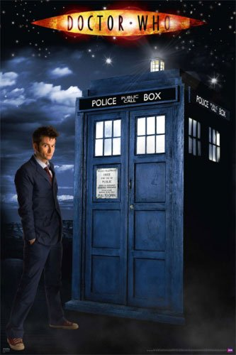 Doctor Who - Glow In The Dark TV Show Poster (The Doctor & The Tardis) (David Tennant) (Size: 24