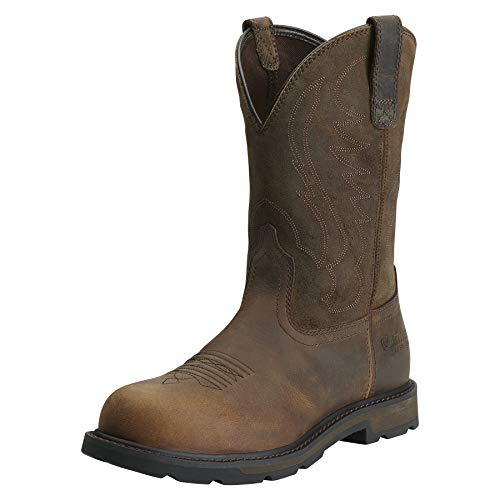 Ariat Men's Groundbreaker Pull-On Steel Toe Work Boot, Brown, 11 M US (The Best Steel Toe Work Boots)