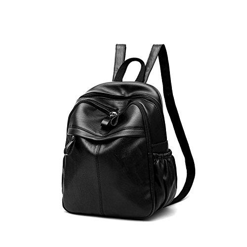 amp;DORIS NICOLE dos 2 Mode Noir Sac à Cartable Voyage Femmes à Sac PU d'épaule dos Cartable Sac Noir Cuir Filles 1CqdrC