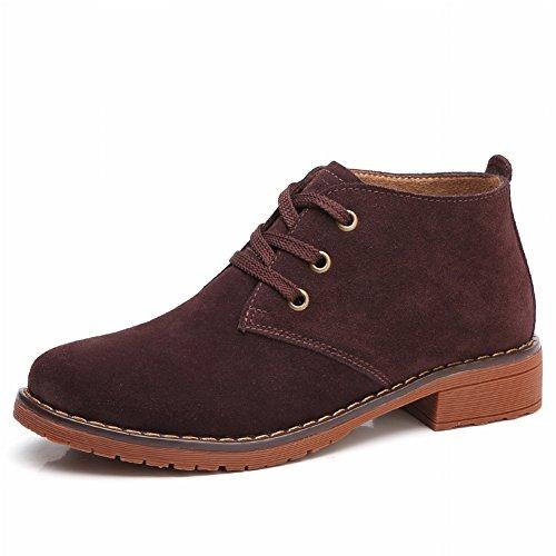 Botas de Algodón Vintage Martin Boots para Mujer con Zapatos de Mujer Botas , marrón , EUR36.5