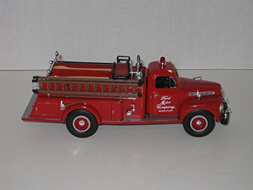 [First Gear Die Cast Truck, 19-1901, 1951 Ford F-7 Closed Cab Fire Truck with Ford Motor Company Rouge Plant Logo, 1/34th Scale] (Ford Motor Company Trucks)