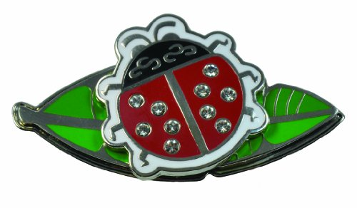 Navika USA Ladybug Swarovski Crystal Ball Marker with Lea...