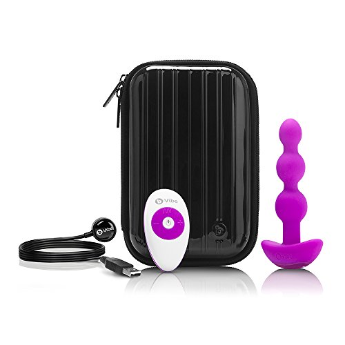b-Vibe Remote Control Triplet Vibrating Anal Beads - Fuchsia -  COTR, Inc, 5901930000