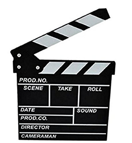 Marery wooden Clapboard Director Film Movie Cut Action Scene Slateboard Clapper Board Slate Black ()