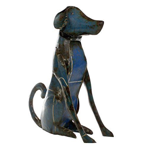 Reclaimed Metal Sitting Dog - Lrg ()