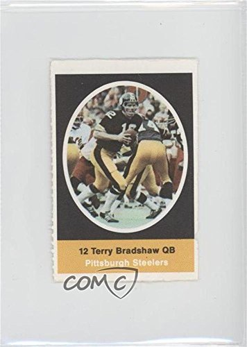 Terry Bradshaw COMC REVIEWED Poor (Football Card) 1972 Sunoco NFL Action Player Stamps #TEBR