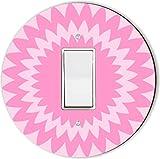 Rikki Knight RND-LSPROCK-143 Shades Spiral Round Single Rocker Light Switch Plate, Pink