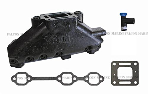 MERCRUISER EXHAUST MANIFOLD GM 4.3L V6 (CAST IRON) | GLM Part Number: 51220; Mercury Part Number: - Marine Manifold Exhaust
