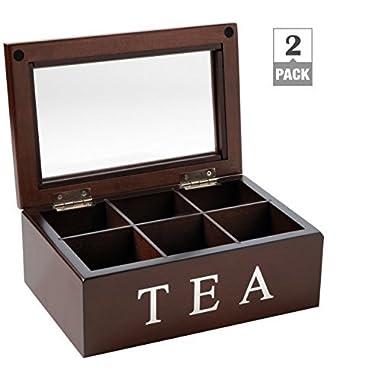 Mark Feldstein and Associates TBX6 Tea Chest 6 Compartment (2 pack)