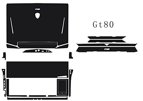 Special Laptop Red carbon fiber Vinyl Skin Stickers - Laptop Msi Gt80