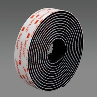 3M Dual Lock SJ3552 Black Hook & Loop Tape - Mushroom Hook with 170 stems/in Stem Count - 3/4 in Width - 86361 [PRICE is per CASE]