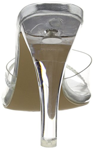 Pleaser Clearly 401r - Sandalias Mujer Transparente - Transparent (Clr Lucite)
