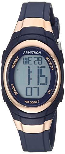 Armitron Sport Women's Quartz Sport Watch with Resin Strap, Blue, 11.8 (Model: 45/7034RNV) ()