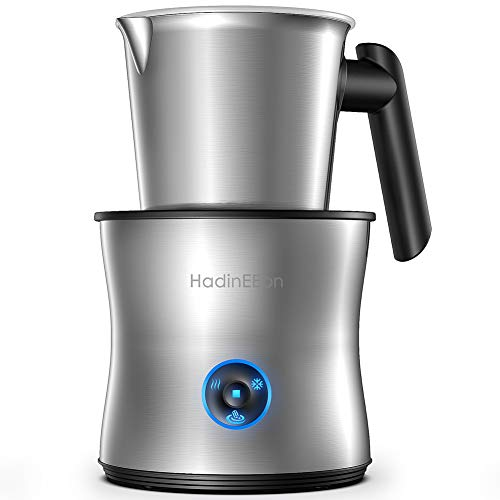 HadinEEon Milk Frother, 4 in 1 Electric Milk Frother and Hot Chocolate Maker, Dishwasher Safe, Auto Cold Hot Milk…