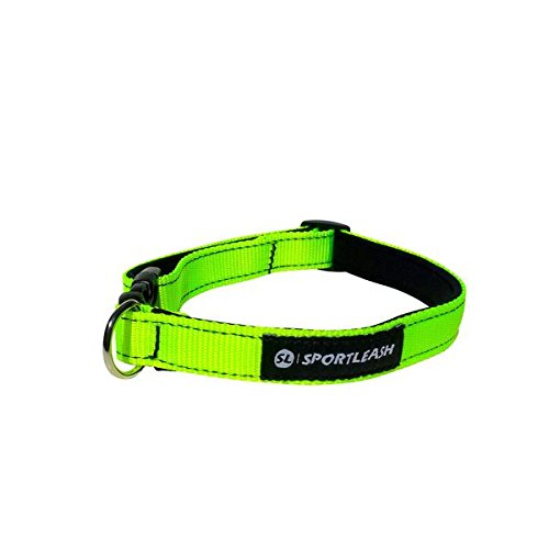 Neoprene-Lined Dog Collar (SportCollar) - Neon Yellow with Black Thread