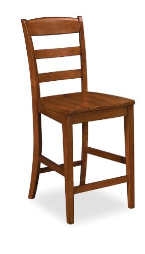 Home Styles 5520-89 Aspen Bar Stool, Rustic Cherry Finish, 24-Inch