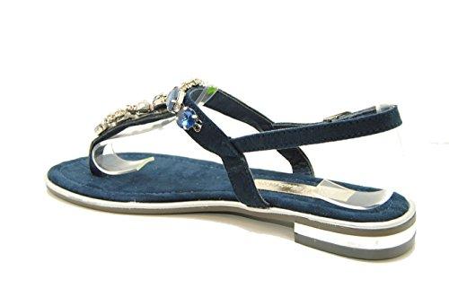 XTI 030661, Sandalias con Punta Abierta para Mujer Azul marino