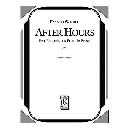 After Hours (Five Encores for Flute and Piano) LKM Music Series Composed by David ()
