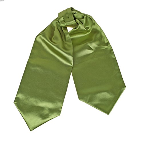 DRA7E01S Luxury Goods Yellow Green Solid Polyster Mens Ascot Birthday Groomsmen Stain Cravat Manufacturers Gift Idea By Dan Smith