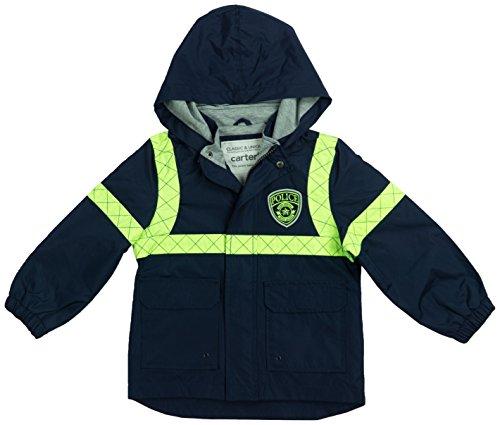 Carter's Baby Boys Little Man Rainslicker Rain Jacket, Policeman Yellow, 18M