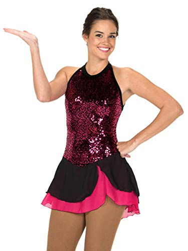 Jerry's Figure Skating Dress 224 (Youth 12-14, Pink)