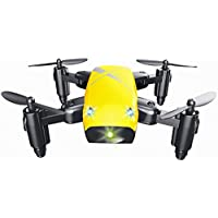ZZSYU S9 Altitude Hold 0.3MP HD Camera 6-Axis Foldable WIFI RC Quadcopter Pocket Drone (Yellow)