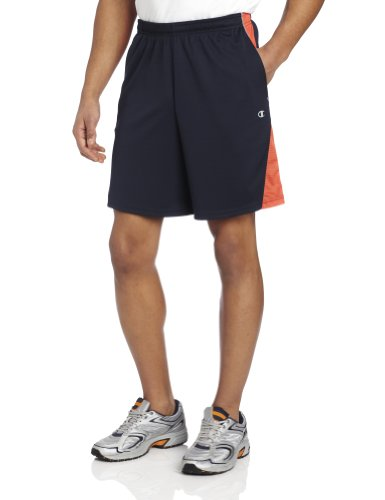 Champion Men's Intensity Short, Navy/Coral/Shark, X-Large