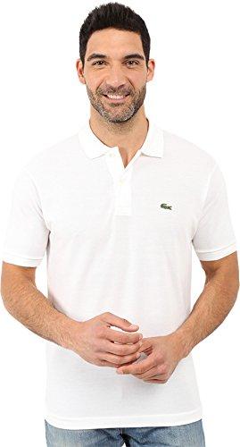 Lacoste Men's Short Sleeve Pique L.12.12 Classic Fit Polo Shirt, White, 5