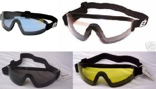 4 Skydive Sky Diving Goggles Clear Smoked Blue and Yellow