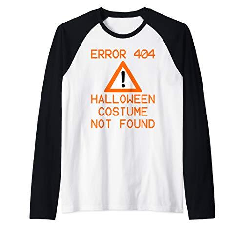 Funny College Halloween Costume Ideas 2019 (Funny Computer Nerd HALLOWEEN ERROR 404 COSTUME NOT FOUND  Raglan Baseball)