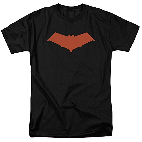 Batman DC Comics Under The Hood Jason Todd Red Hood Bat Logo Adult T-Shirt (Batman The Red Hood compare prices)