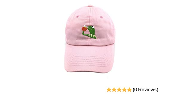 75436aa345f Amazon.com  SYWHPS Kermit The Frog Dad Hat Cap Sipping Sips Drinking Tea  Champion Lebron Costume (Pink)  Sports   Outdoors