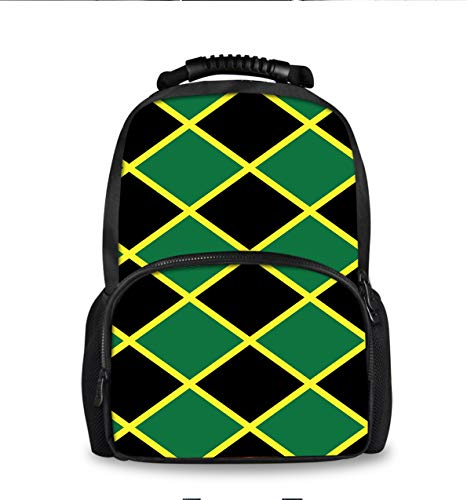 Laptop Backpack,Travel Computer Backpacks for Women & Men, Anti Theft Water Resistant College Student School Bookbag, Business Backpack Jamaican Flag Stripe Caribbean Island ()