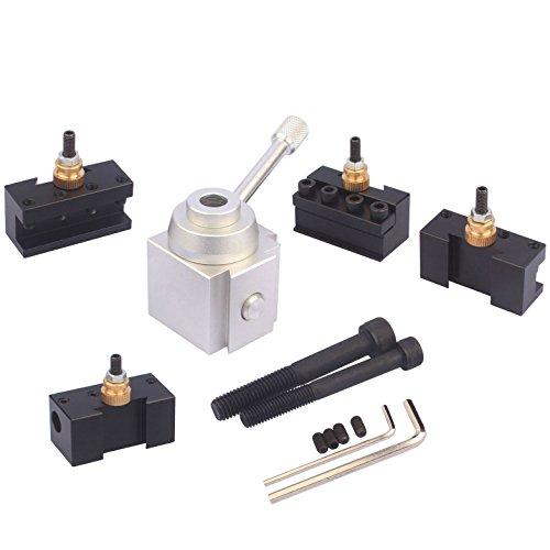 Mini Lathe Quick Change Tool Post & Holders Multifid Tool Holder Kit Set for Table