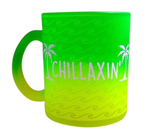 Chillaxin Green Palm Tree Ceramic Mug, 14 -