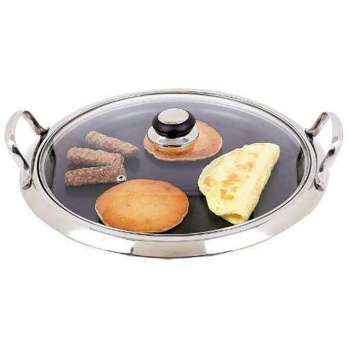 Chefs Secret® by Maxam® 12-Element Stainless Steel Round Griddle