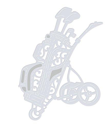- Sweet Dixie Golf Bag and Trolley Die, Grey, Medium