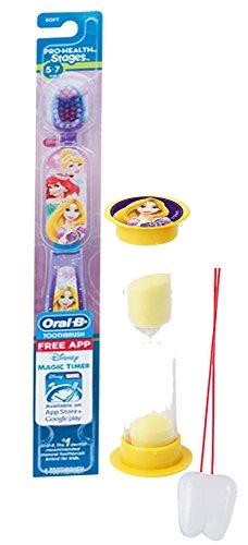 "Disney Tangled Inspired 2pc Bright Smile Oral Hygiene Set! Princess Rapunzel Toothbrush & Brushing Timer! Plus Bonus ""Remember to Brush"" Visual Aid!"