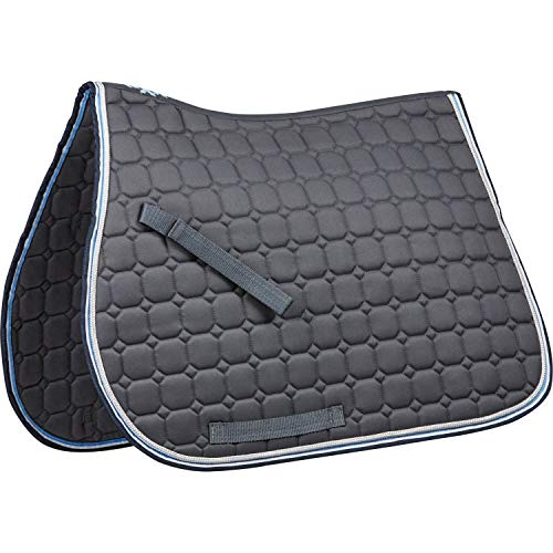 Saxon Coordinate Quilted AP Saddle Pad Full Gray