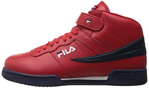 Fila Men's f-13v lea/syn Fashion Sneaker, Red Navy/White, 9 M US