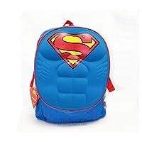 """Dc Comics Superman 3D Molded Pecho 16 """"mochila escolar grande"""