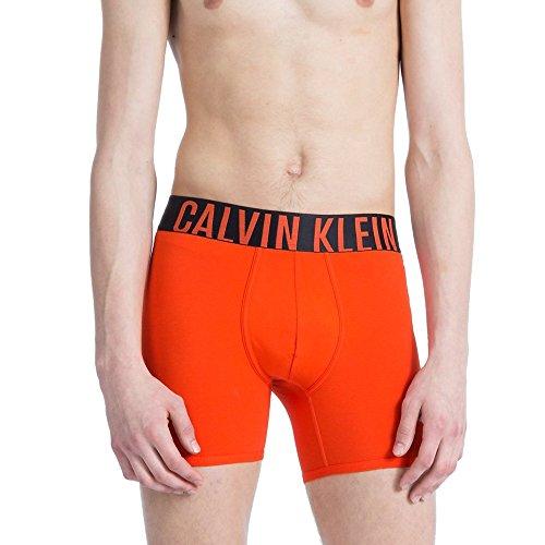 Calvin Klein Men's Underwear Intense Power Premium Smooth Cotton Boxer Brief Wide Waistband NB1043 (Oriole, Large)