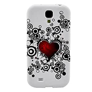Corazón Patrón TPU caso suave para el Samsung Galaxy S4 i9500