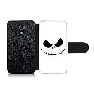 Funda carcasa de cuero para Samsung Galaxy S4 Mini diseño cara pesadilla