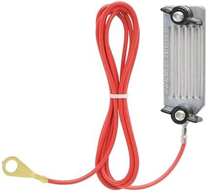 VOSS.farming Cable para Cierre de Circuito con el energizador, 130 cm, Acero Inoxidable, con Tornillos Ajustables