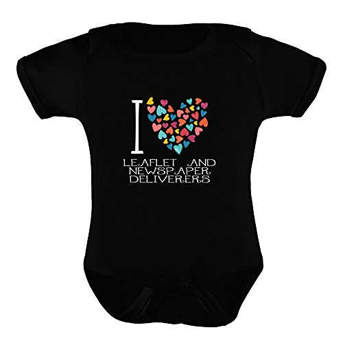 Leaflet 9 Designs (Idakoos - I love Leaflet And Newspaper Deliverers colorful hearts - Occupations - Baby Bodysuit)