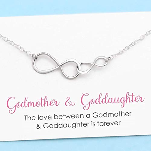 Godmother and Goddaughter • Double Infinity Necklace • Sterling Silver • Infinite Love